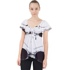 Skull Knife Euclidean Vector Skull Sword Inserted Lace Front Dolly Top