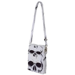 Skull Knife Euclidean Vector Skull Sword Inserted Multi Function Travel Bag
