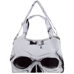 Skull Knife Euclidean Vector Skull Sword Inserted Double Compartment Shoulder Bag