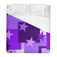 Purple Stars Pattern Shape Duvet Cover (full/ Double Size)