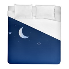 Night Moon Star Background Duvet Cover (full/ Double Size) by Jojostore