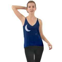 Night Moon Star Background Chiffon Cami