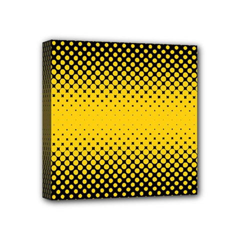 Dot Halftone Pattern Vector Mini Canvas 4  X 4  (stretched)