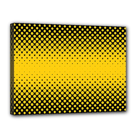 Dot Halftone Pattern Vector Canvas 16  X 12  (stretched)