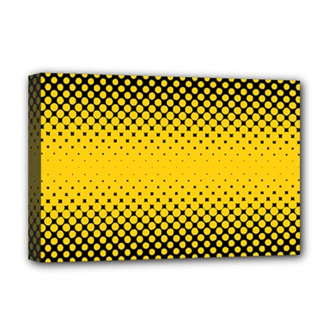 Dot Halftone Pattern Vector Deluxe Canvas 18  X 12  (stretched)