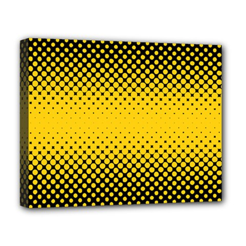 Dot Halftone Pattern Vector Deluxe Canvas 20  X 16  (stretched)