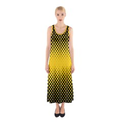 Dot Halftone Pattern Vector Sleeveless Maxi Dress