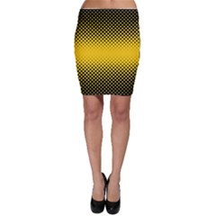 Dot Halftone Pattern Vector Bodycon Skirt