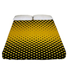 Dot Halftone Pattern Vector Fitted Sheet (queen Size)