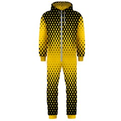 Dot Halftone Pattern Vector Hooded Jumpsuit (men)