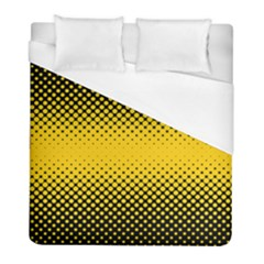 Dot Halftone Pattern Vector Duvet Cover (full/ Double Size)