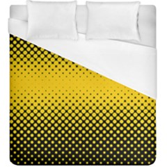 Dot Halftone Pattern Vector Duvet Cover (king Size)