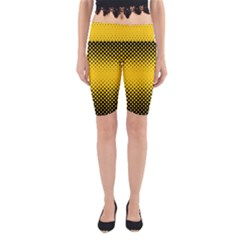 Dot Halftone Pattern Vector Yoga Cropped Leggings