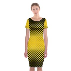 Dot Halftone Pattern Vector Classic Short Sleeve Midi Dress