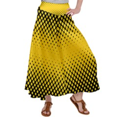 Dot Halftone Pattern Vector Satin Palazzo Pants