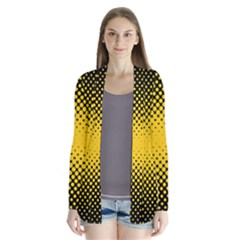 Dot Halftone Pattern Vector Drape Collar Cardigan