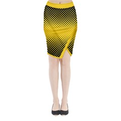 Dot Halftone Pattern Vector Midi Wrap Pencil Skirt by Mariart