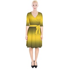 Dot Halftone Pattern Vector Wrap Up Cocktail Dress