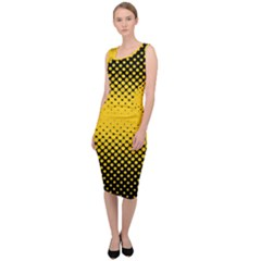 Dot Halftone Pattern Vector Sleeveless Pencil Dress