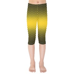 Dot Halftone Pattern Vector Kids  Capri Leggings