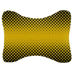 Dot Halftone Pattern Vector Velour Seat Head Rest Cushion