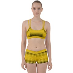 Dot Halftone Pattern Vector Perfect Fit Gym Set