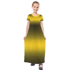 Dot Halftone Pattern Vector Kids  Short Sleeve Maxi Dress by Mariart