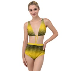 Dot Halftone Pattern Vector Tied Up Two Piece Swimsuit