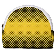 Dot Halftone Pattern Vector Horseshoe Style Canvas Pouch