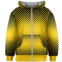Dot Halftone Pattern Vector Kids  Zipper Hoodie Without Drawstring
