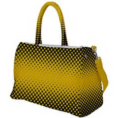 Dot Halftone Pattern Vector Duffel Travel Bag by Mariart