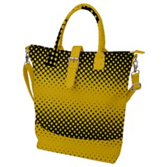 Dot Halftone Pattern Vector Buckle Top Tote Bag