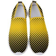 Dot Halftone Pattern Vector Men s Slip On Sneakers by Mariart