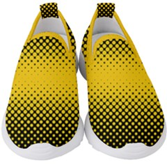 Dot Halftone Pattern Vector Kids  Slip On Sneakers by Mariart