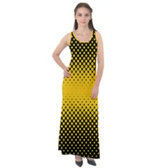 Dot Halftone Pattern Vector Sleeveless Velour Maxi Dress by Mariart