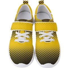 Dot Halftone Pattern Vector Men s Velcro Strap Shoes
