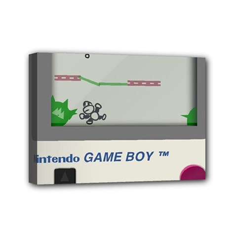 Game Boy White Mini Canvas 7  X 5  (stretched)