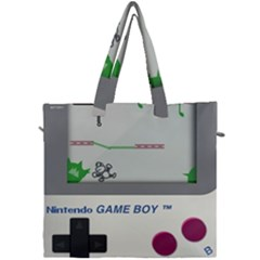 Game Boy White Canvas Travel Bag by Sudhe