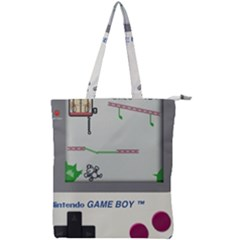 Game Boy White Double Zip Up Tote Bag