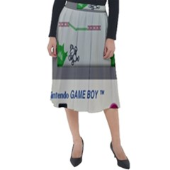 Game Boy White Classic Velour Midi Skirt