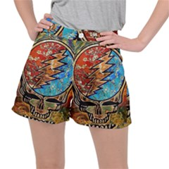 Grateful Dead Rock Band Stretch Ripstop Shorts