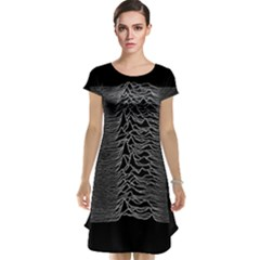 Grayscale Joy Division Graph Unknown Pleasures Cap Sleeve Nightdress