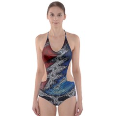 Grateful Dead Logo Cut Out One Piece Swimsuit