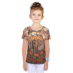 Queensryche Heavy Metal Hard Rock Bands Logo On Wood Kids  One Piece Tee
