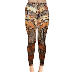 Queensryche Heavy Metal Hard Rock Bands Logo On Wood Inside Out Leggings
