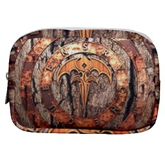Queensryche Heavy Metal Hard Rock Bands Logo On Wood Make Up Pouch (small) by Sudhe