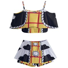 Woody Toy Story Kids  Off Shoulder Skirt Bikini