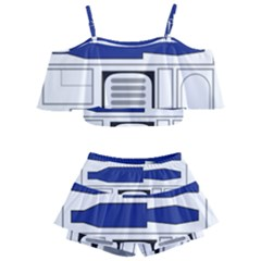 R2 Series Astromech Droid Kids  Off Shoulder Skirt Bikini by Sudhe