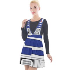 R2 Series Astromech Droid Plunge Pinafore Velour Dress