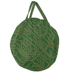 Circuit Board Electronics Draft Giant Round Zipper Tote